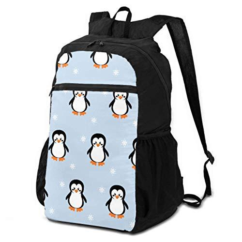 Rucksack, verstaubar, wasserdicht, niedlicher Pinguin, ein Schweinchen in Rot, Schal, Girlande, faltbarer Reiserucksack, leicht, verstaubar, leicht, wasserdicht, für Damen und Herren, für Camping und Outdoor