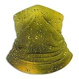 LREFON Gotas de Superficie de Vidrio Amarillo Cuello Polaina Bandana Calentador de Cuello pasamontañas para Hombres Mujeres Sol protección contra el Polvo del Viento UV