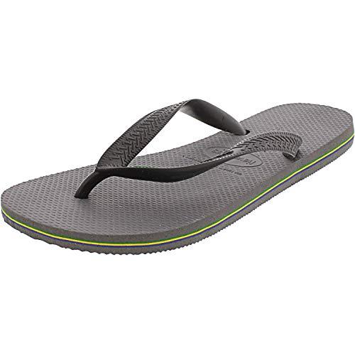Havaianas Women's Brazil Flip Flop Sandal, Steel Grey, 7/8 M US