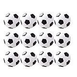 ABOOFAN 12 piezas 3. 1 cm Classic Mini fútbol juguete de mesa de fútbol fútbol bolas de repuesto para mesa de resina juego de fútbol accesorio (negro)