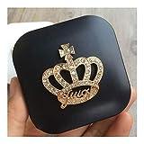 Chenhan Mini Lentes de Contacto Caso Lindo del diseño de la Corona de Viajes Lente Box Set con Lentes de Espejo Ojo Soporte del contenedor de la Lente de Contacto cosmética práctico (Color : Black)