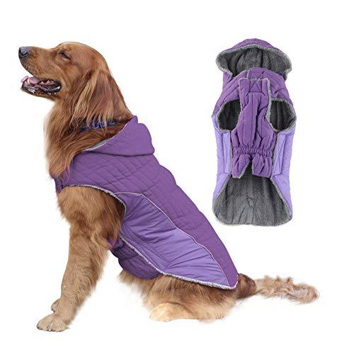 EMUST Dog Winter Coats, Fleece Dog Coats for Small Dogs Winter, Windproof Warm Dog Winter Clothes for Small Dog,Coats for Winter, XS