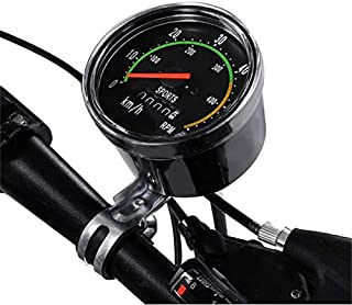 XinXinLan - Velocímetro analógico para Bicicleta, Estilo Antiguo, odómetro, Estilo clásico para Bicicleta y Ejercicio, Herramienta Universal Redonda para Bicicleta de montaña