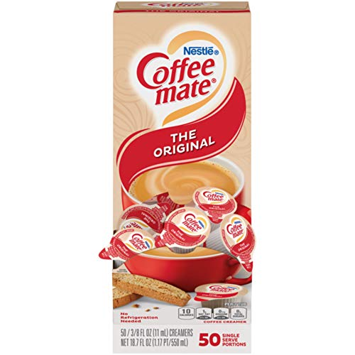 Nestle Coffee mate Coffee Creamer Liquid Creamer Singles, Original, 50 Count Box