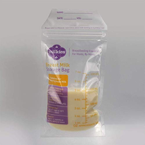 "Milkies""No-Break, No-Leak"" Breast Milk Storage Bags, 50-Count, BPA-Free"