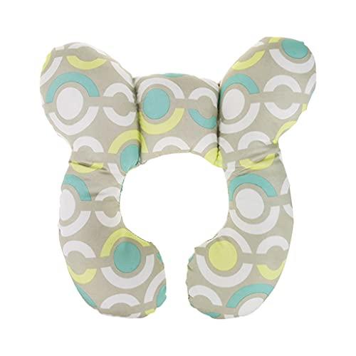 PHILSP Soporte de Asiento Almohada de Soporte para el Cuello del bebé Cojín para reposacabezas en Forma de U para bebés Asiento de automóvil Protección para la Cabeza círculo Azul