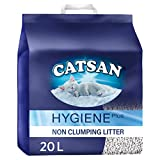 Catsan Hygiene Plus Cat Litter, with White Hygiene Granules To Prevent Odours, 20 L