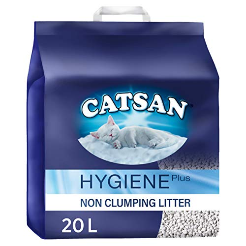 Catsan Hygiene Plus Cat Litter, with White Hygiene...