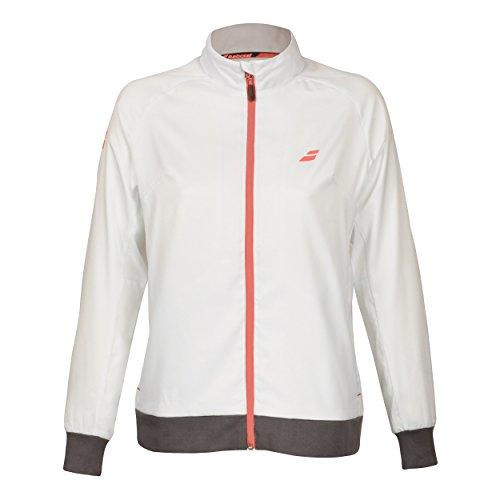 Babolat Damen, Core Club Trainingsjacke Weiß, Braun, XL Jacken