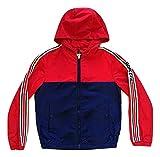 Moncler - Chaqueta para niño de nailon cortavientos bicolor azul y rojo blu + rosso 12 años
