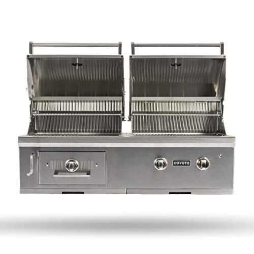 Coyote 50-Inch Built-in Natural Gas/Charcoal Dual Fuel Hybrid Grill - C1HY50NG