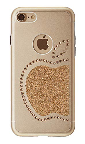 iShield iPhone 6/6S/7/8/SE(2) Re mela con 51 cristalli Swarovski per iPhone 6/6S/7/8/SE(2) in alluminio satinato con cristalli Swarovski
