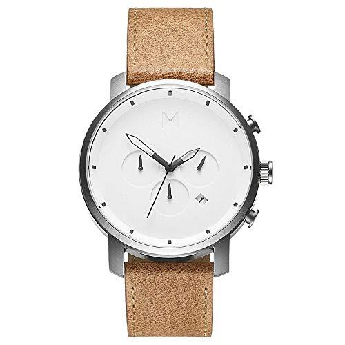 MVMT Herren Chronograph Quarz Uhr mit Leder Armband D-MC01-WT