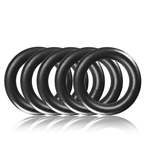 Ganzoo O - Ring aus Stahl S, 5er Set, DIY Hunde-Leine/Hunde-Halsband, nichtrostend, Ideal mit Paracord 550, geschweißt, Farbe: schwarz matt
