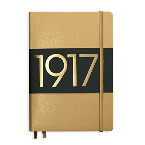 LEUCHTTURM1917 355518 Notizbuch Medium (A5), Hardcover, 251 nummerierte Seiten, Gold, blanko