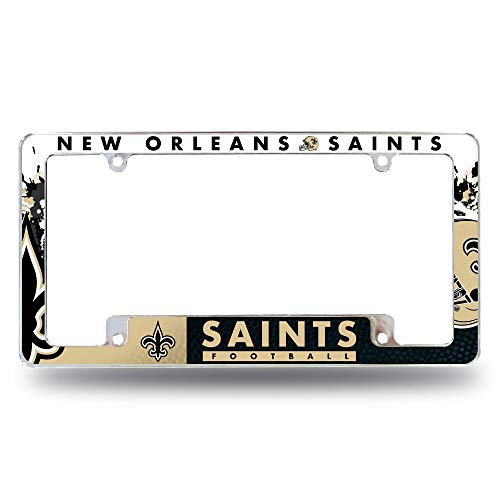 Rico Industries Saints All Over Chrome Frame, One Size
