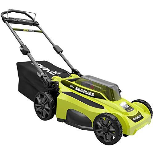 RYOBI Lawn Mower 20 in. 40-Volt Lithium-Ion Brushless Cordless Walk Behind