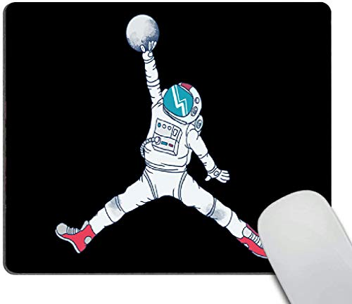 Mouse pad,Basketball Astronaut Pattern Waterproof Anime Gaming Gift Mouse Pad Desk Accessories Non-Slip Rubber Mousepad for Laptop Wireless Mouse
