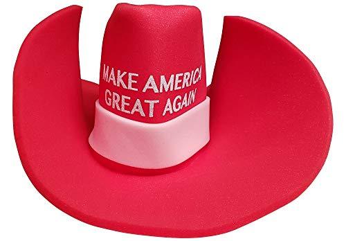 Huge MAGA Cowboy Hat Make America Great Again Donald Trump Giant MAGA Foam Hat Red
