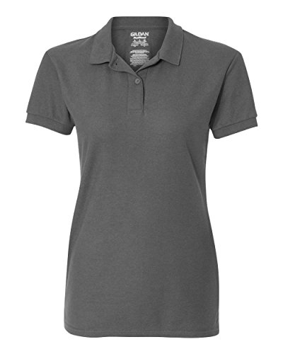6.3 oz. Double Pique Sport Shirt (G728L) Charcoal, XL