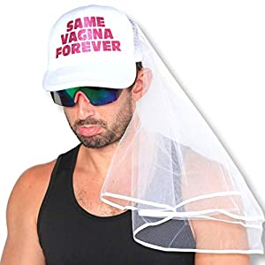 Bachelor Party Hat and Veil - Bachelor Party Ideas, Supplies, Gifts, Jokes and Favors (1 Pack - With Veil) from Sterling James Company
