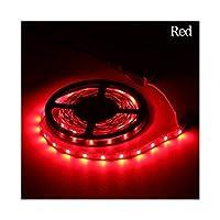 CHUNMA 2835 DC12V RGB LEDストリップライト1M、2M、3M、4M、5M NO防水LEDライトRGBのLEDテープフレキシブルダイオードリボン (Color : Red, Size : 1m)