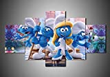 CVBGF Die Schlümpfe - Cartoon 5 Panel Canvas Art