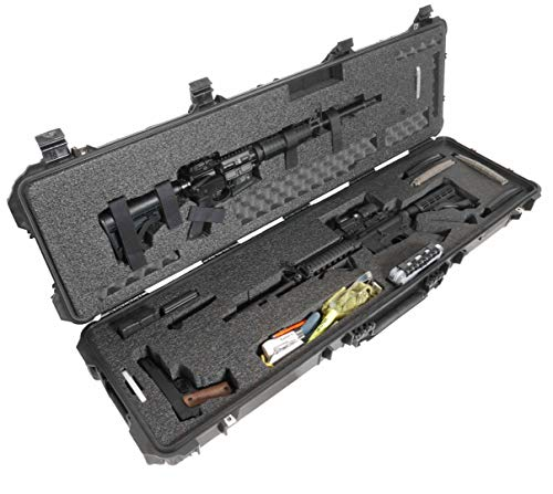 Case Club 2 AR Pre-Cut Waterproof Rifle Case with Accessory Box & Silica Gel to Help Prevent Gun Rust (Gen 2)