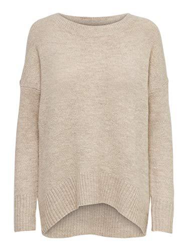 Only ONLNANJING L/S Pullover KNT Noos Suter Pulver, Beige (Detalle de la Imagen: W. Melange), XS para Mujer