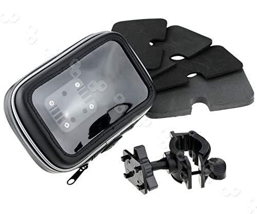 be in your mind - Funda protectora de piel con soporte para manillar de bicicleta o moto, impermeable para GPS de 5 pulgadas y 6 pulgadas Sat NAV, moto, bicicleta de montaña