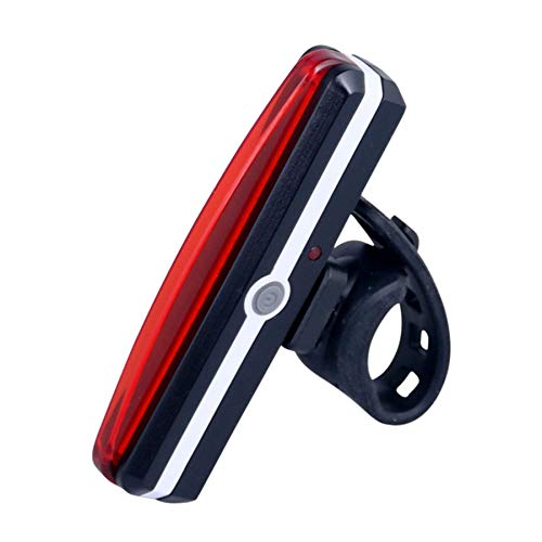 SEEZEN Luce Posteriore per Bici Ricaricabile Tramite USB - 6 opzioni di modalità Luce, Montaggio e smontaggio con Un Solo Tocco, Impermeabile IPX4, per Tutte Le Bici