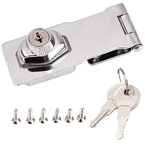 Wenxiaw Möbelschloss mit Schlüssel Türschloss Verschluss Schnalle Kühlschrankschloss Schublade Schrank Locks Sicherheits-Überfalle Vorhängeschloss Überfalle Lock für Schränke Möbel 1 Stück
