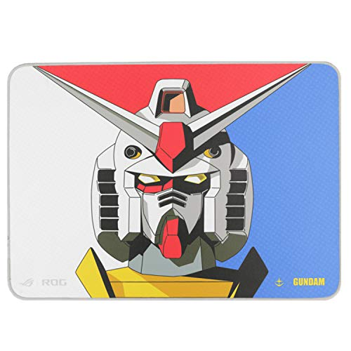 ASUS ROG Sheath Gundam Edition Mousepad (Limited Edition, Gaming-Optimized Cloth Surface, 3mm Thickness, Anti-Fraying Stitched Frame, and Non-Slip Rubber Base)