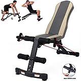 WLNKJ Fitness Gewichtheben Bank, Sit-Ups Sit-Ups Fitnessgeräte Home Bauchmuskel Board Multifunktions-Klapp-Fitness-Stuhl Hantel Hocker
