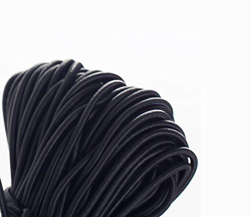 TUKA [100 m x 3mm] Elastische Schnur, Schmuckherstellung Perlenschnur, Elastic Seil Gummikordel Spule, Ideal für DIY, Outdoor, Kleidung, Handwerk, Armbänder, Halsketten usw. Schwarz, TKD5090-black