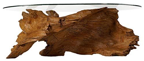 Windalf Design Natur Couchtisch Raven 122 cm Wohnzimmertisch Unikat Handarbeit aus Wurzelholz