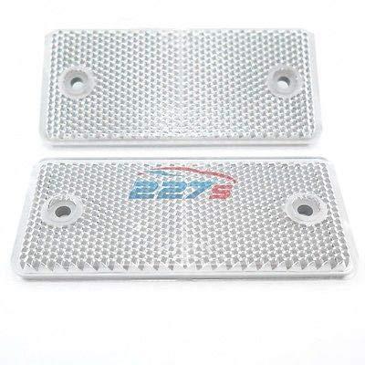 227s Reflectores rectangulares para montaje con tornillos, aptos para vehículos, portabicicletas, postes...