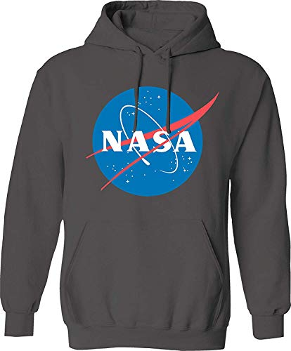 SAN Men's NASA Hoodie Pullover Sweatshirt, Black, XXXL