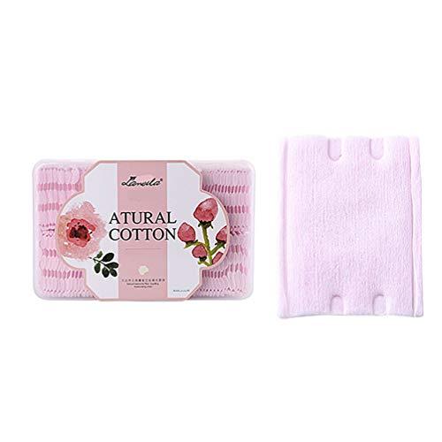 Minkissy tampons de maquillage en coton tampons 100pcs réutilisables de dissolvant de maquillage carrés de coton organique de bambou visage nettoyants tampons de toner
