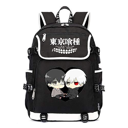 YOYOSHome Luminous Anime Tokyo Ghoul Cosplay Büchertasche Daypack Laptop Tasche Rucksack Schultasche, 7 (Schwarz) - yyyo3