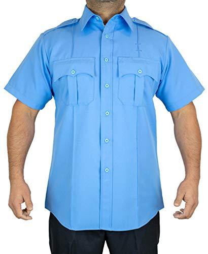 First Class Short-Sleeve Uniform Shirt M Light Blue