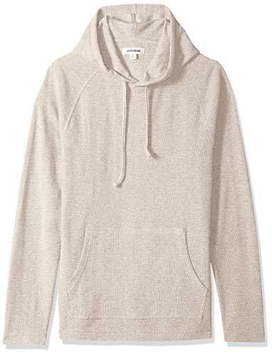 Amazon Brand - Goodthreads Men's Long-Sleeve Slub Thermal Pullover Hoodie, Heather Oatmeal, Large