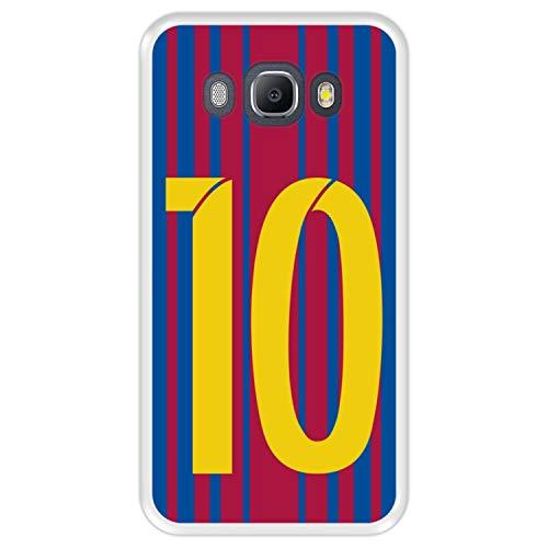 Hapdey Funda Transparente para [ Samsung Galaxy J5 2016 ] diseño [ Ilustración fútbol, número 10 ] Carcasa Silicona Flexible TPU