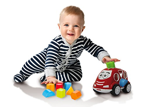 Jamara- Just Play Juego Educativo Coche con Formas, Color rojo (460290)