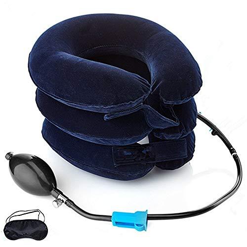 EasyNeck Aufblasbare Hals Traktionsgerät Verbessern Wirbelsäule Ausrichtung Reduzieren Hals Schmerzen Zervikaler Kragen Einstellbar