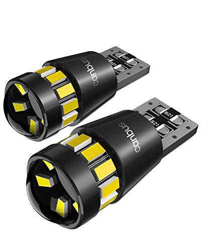T10 W5W LED Lampadine con Canbus, Luci di Posizione, Luci Targa per Auto, Luce di Parcheggio, Lampadine Tettuccio 555 501 558 2825 175 192 168 194, 6000K, 2 Pezzi