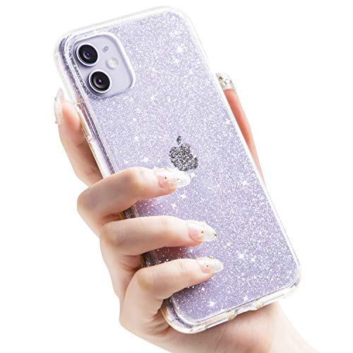 CASEKOO Crystal Glitter Compatible with iPhone 11 Case, [Anti-Yellowing] Bling Clear & Shockproof Protective Hybrid Phone Cases Thin Slim Cover for iPhone 11 (6.1 inch) 2019- Twinkle Stardust