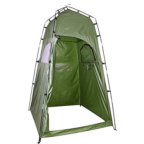 QSCZZ Portable Camping Shower Tent, Waterproof Outdoor Locker Room Toilet Tent, with Window Design, Suitable for Camping And Fishing (120 X 120 X 195Cm)
