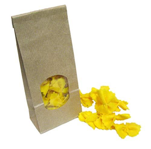 Farfalle, gelbe Nudeln aus Filz, Kaufladenzubehör
