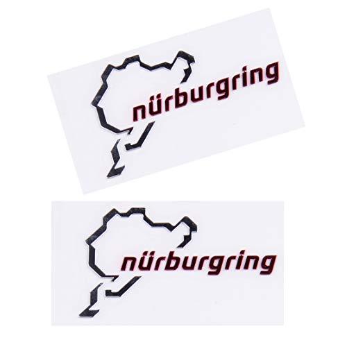 beler 2 Stück Poliertes Chrom Nürburgring Motorsport Auto Emblem Aufkleber Aufkleber Logo